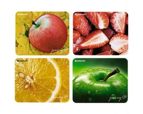 Коврик для мыши Defender Juicy sticker с фруктами пластик 220x180x0.4мм (50412)