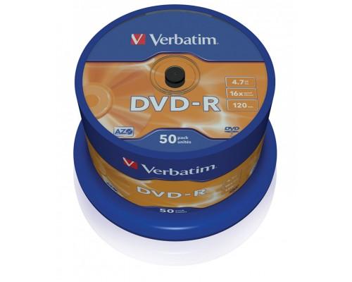 Диск DVD-R 4,7Гб Verbatim 16x (43548) AdvancedAzo+, туба (50шт/уп)
