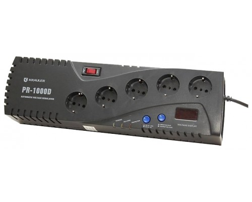 Стабилизатор напряжения Krauler VR-PR1000D (черный)