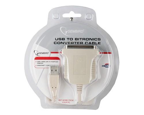 Адаптер LPT Gembird CUM360 Bitronics 36pin(M) --> USB-A(M), 1,8м