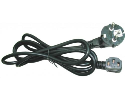 Кабель питания 220V Gembird PC-186A-VDE, CEE 7/7(Вилка-евро) - IEC C13, 10A, угловой разъем, VDE, черный, 1.8м