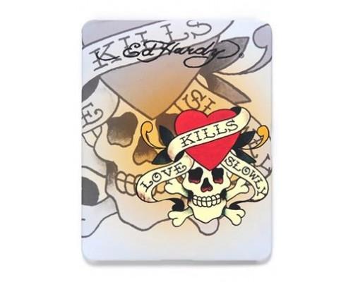 Защитная самоклеющаяся плёнка для iPad, из двух частей с рисунком Ed Hardy iPad Skin
