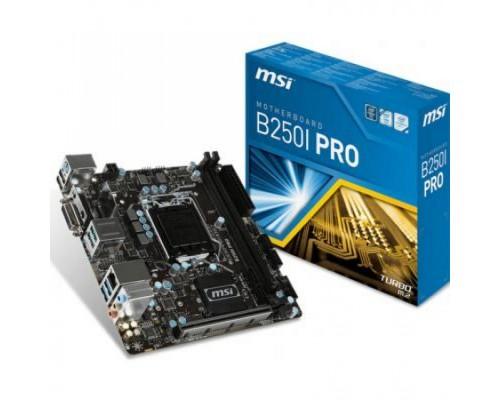 Материнская плата MSI L1151 B250I PRO 2xDDR4 1xM2 mini-ITX RTL