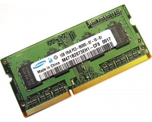 Модуль памяти DDR3 Samsung 1Gb 1066MHz CL7 SO-DIMM 1,5v M471B2873EH1-CF8 OEM