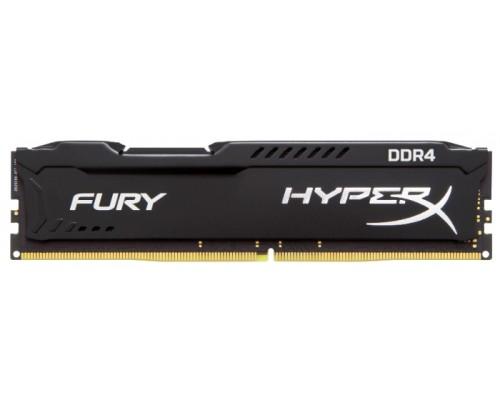 Модуль памяти DDR4 Kingston 4Gb 2400MHz CL15 DIMM 1,2v HyperX Fury HX424C15FB/4 RTL