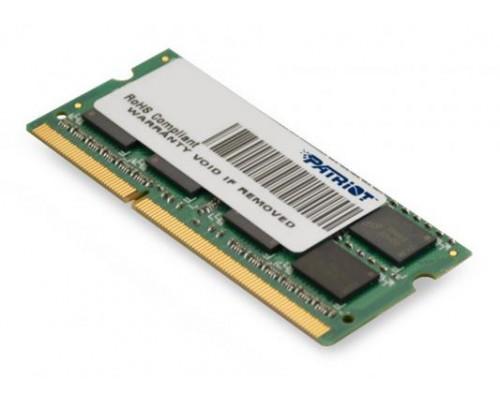 Модуль памяти DDR3 Patriot 4Gb 1600МГц CL11 SO-DIMM 1,35v PSD34G1600L2S RTL