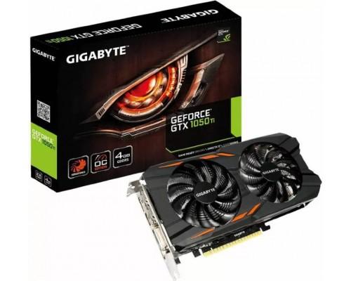 Видеокарта 4096Mb PCI-E Gigabyte GeForce GTX1050Ti GV-N105TWF2OC-4GD 128bit PCI-E 3.0 GDDR5 1xDVI-D 1xHDMI 1xDP RTL