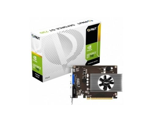 Видеокарта 4096Mb PCI-E Palit GeForce GT730 PA-GT730-4GD5 64bit PCI-E 2.0 GDDR5 1xD-Sub 1xDVI-D 1xmini HDMI RTL