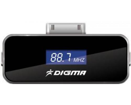 Автомобильный FM-модулятор Digma iFT504, для использования с iPhone, iPad, iPod, USB, подзарядка устройства, дисплей, черный