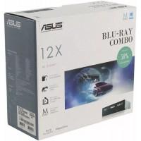 Дисковод Blu-Ray 12хBlu-ray/16x16x8xDVD/48x48x24xCD, ASUS BC-12D2HT, черный, RTL