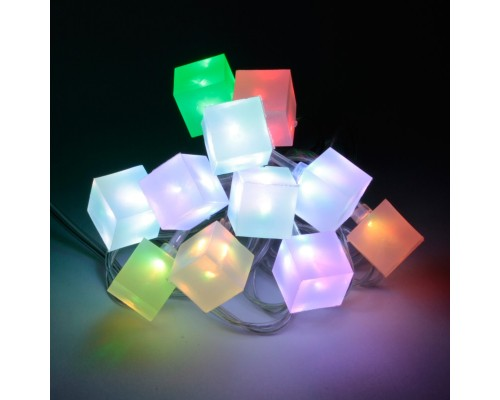 Новогодняя гирлянда светящаяся Orient Ледяные кубики NY5075 USB
