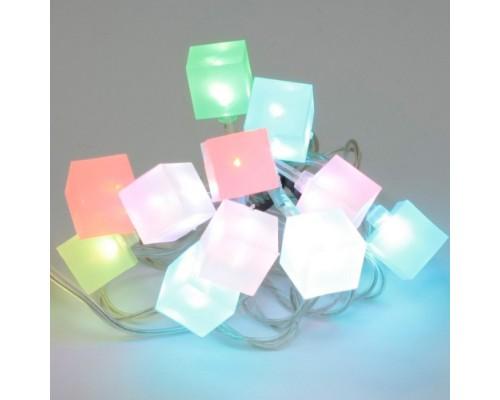 Новогодняя гирлянда светящаяся Orient Разноцветный лёд NY5243GN, питание 220В