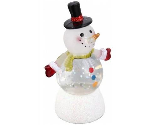 Сувенир - светящаяся игрушка Снеговик-Светофор Orient NY6011 USB