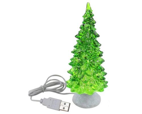 Новогодняя елка светящаяся, ледяная елочка с музыкой Orient 339M USB