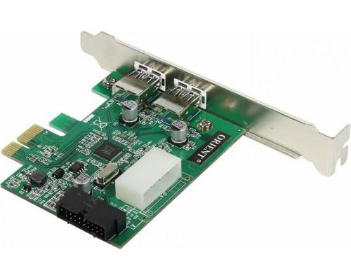Контроллер PCI-Ex1 Orient VA-3U2219PE USB3.0 (2 внешн. + 2 внутр.)