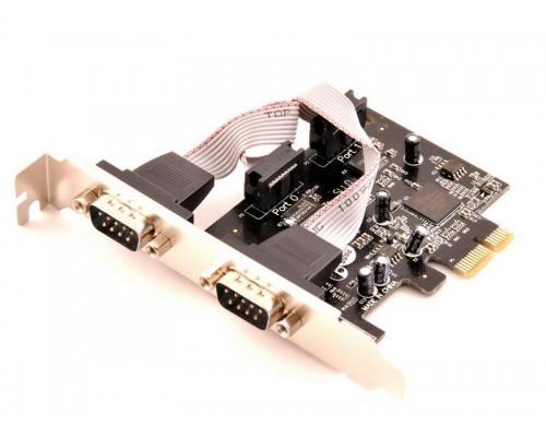 Контроллер PCI-Ex1 Orient XWT-PE2S 2xCOM (2 внешн. 9pin)