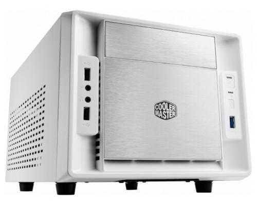 Корпус Cooler Master Elite 120 Advanced (RC-120A-WWN1), без БП (обычный БП), Mini-ITX, алюминиевая фронтальная панель, USB 3.0 x1, USB 2.0 x 2, Вентиляторы: 1х120мм, 1х80мм, белый