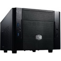 Корпус Cooler Master Elite 130 RC-130-KKN1, Mini-ITX, алюминиевая фронтальная панель, USB 3.0 x2, USB 2.0 x 1, Вентиляторы: 1х120мм, 1х80мм, без БП, черный