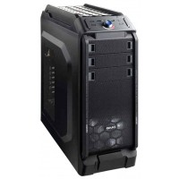 Корпус GMC Titan ATX, front fan  1х120mm (установлено: 1х120mm с подсв), 2х120mm (установлено: 2х120mm), окно, 1хUSB2.0/1хUSB3.0/Audio, Black (без БП)