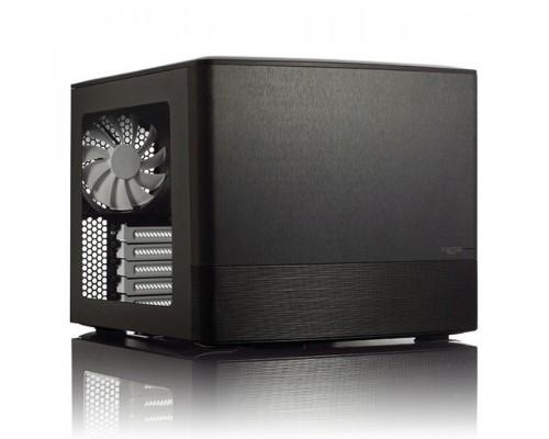 Корпус Fractal Design Node 804, mATX <без БП> Black, w/window, 2xUSB3.0, 10x3.5, fancase: установлено 3x120mm, 3х-ступенчатый регулятор скорости (FD-CA-NODE-804-BL-W)