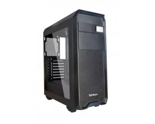Корпус Velton 9000GM-2 Black ATX, fan case 5х120mm (установлено 5x120mm, Led front fan), 2xUSB2.0, 1xUSB3.0, черный (без БП)