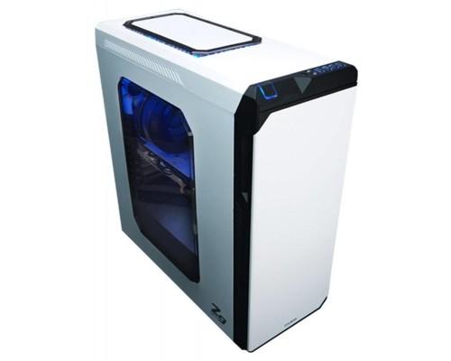 Корпус Zalman Z9 NEO PLUS WHITE, ATX, fan case 3x120mm (установлено 5), fan case 2x140mm (установлено 0), fan controller, USB2.0x2, USB3.0x2, белый, без БП