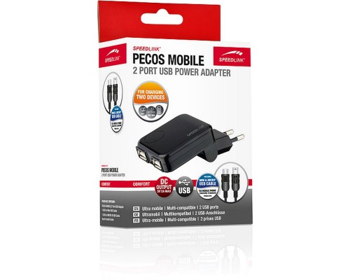 Адаптер питания 220V -> 5V 500mA Speedlink Pecos Mobile USB Power Adapter