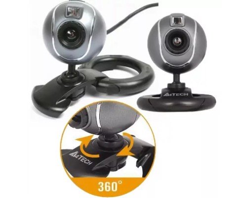 Web камера A4Tech PK-750MJ, 0.3Mpx up 5Mpx(фото), 640x480, USB2.0, микрофон, крепление для ноутбук