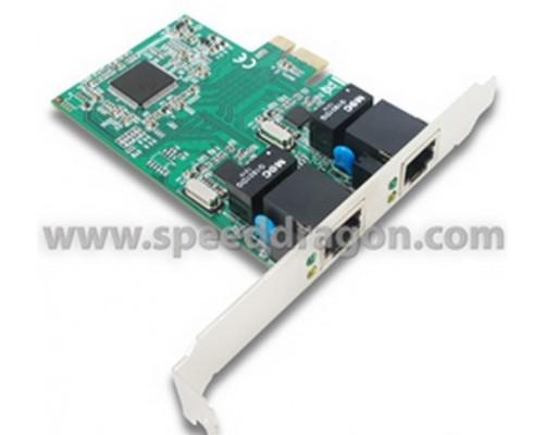 Сетевая карта 2x1Гбит/с Speed Dragon, PCIe x1 (FG-ENW02A-1-BC0)