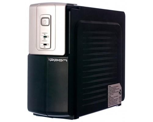 ИБП Ippon 1000ВА Back Office 1000 600Вт, время работы при 50% нагрузке - 30мин., черно-серебр.