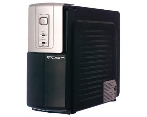 ИБП Ippon 600BA Back Office 600 300Вт время работы при 50% нагрузке 8 мин. черно-серебр.