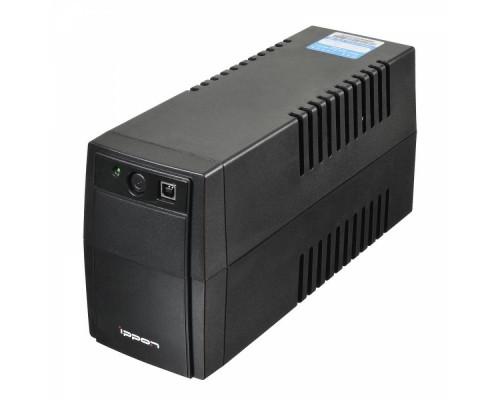 ИБП Ippon 650BA Back Basic 650 Euro 360Вт, время работы при 50% нагрузке 8 мин., 2 евророзетки, черный