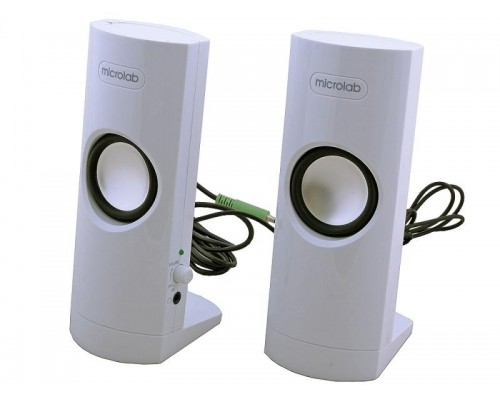Актив. акуст. система Microlab B18, 2 x 2,4вт, белые, USB