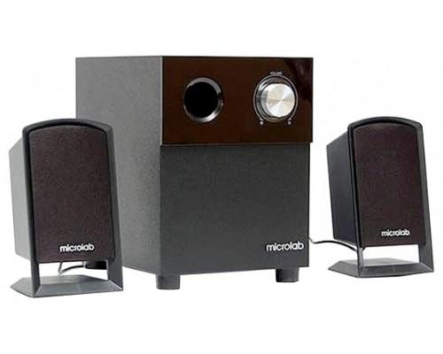 Актив. акуст. система 2.1 Microlab M-109 сабвуфер 5Вт, сателлиты 2x2.5Вт, дерев. корпус SW, черный