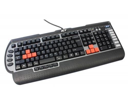Клавиатура A4-Tech X7-G800MU игровая порт USB аудио разъемы PS/2 черный