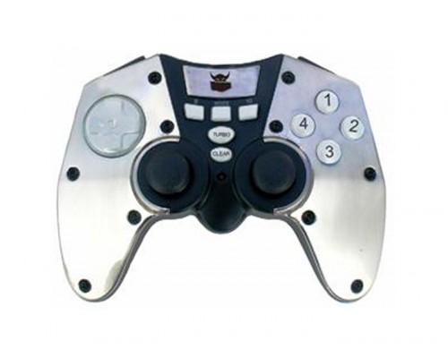 Игровой пульт Black Warrior BW-371 Stealth (12 кн., 2 мини-стика, виброотдача, металл. накл.) USB