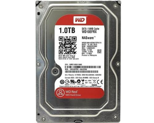 Винчестер 1000Gb SATAIII Western Digital Red WD10EFRX 64Mb, адаптирован для работы в системах NAS