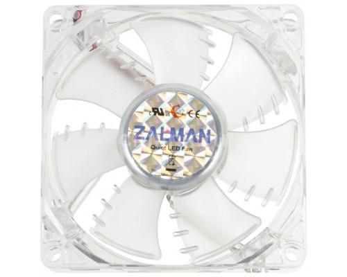 Вентилятор  80x80x25мм Zalman ZM-F1 LED(SF)/Blue  2000rpm 23dBA 3 pin подшипник скольжения синяя подсветка