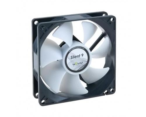 Вентилятор  92x92x25мм Gelid Silent 9, гидродинамич., 3pin, 900-2000RPM, 37-64CFM, 11-23,5dBA