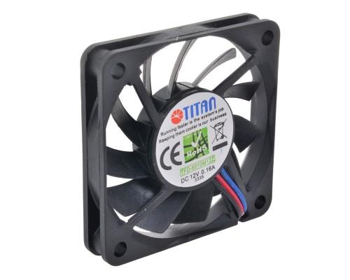 Вентилятор  60x60x10мм Titan TFD-6010M12Z, 4000RPM, 15.49CFM, 30dBA, Z-axis, пит от МВ