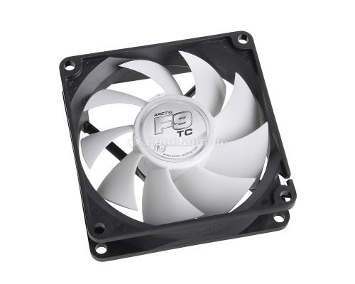 Вентилятор  92x92x25мм Arctic Cooling F9 TC, гидродинамический подшипник, 3pin, 400-1800RPM, 35CFM