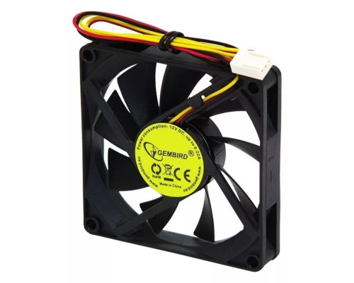 Вентилятор  80x80x15мм Gembird D8015SM-3 Sleeve, 3pin