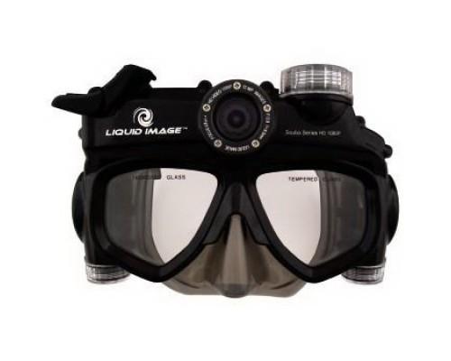 Экшн-видеокамера Liquid Image Scuba H-118504 1080p, маска с камерой для подводного плавания, глубина до 40m, video: 1080p/30fps, 720p/60fps, foto 12Mpx, ulta wide-135градусов, micro-SD up 32Gb, USB2.0