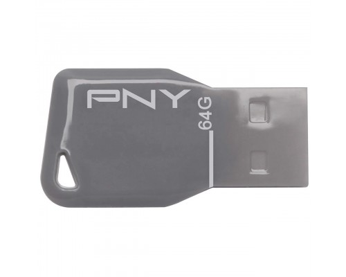 Флеш драйв PNY 64Gb USB2.0 Key Attache FDU64GBKEYGRY-EF серый