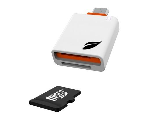 Устройство чтения Leef Lfacc, microUSB/microSD, MicroUSB OTG ридер, белый