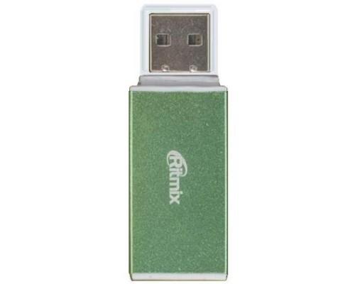Устройство чтения карт памяти microSD/SD/MS/M2 Ritmix CR-2042 внешн., зеленый (USB2.0)
