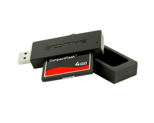 Устройство чтения Scythe SCCFR-1000, CF, USB3.0, скорость чтения до 100 Мб/сек, черный