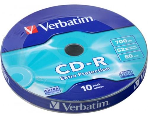 Диск CD-R 700Мб Verbatim 52x (43415) DataLife, Slim (10шт./уп.), 1 диск