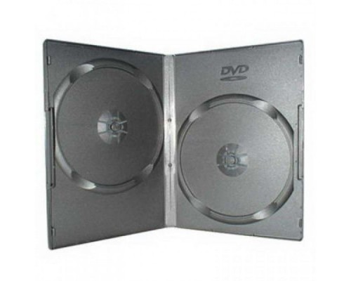 Бокс для  2 DVD, 14мм, матовая пленка, черный