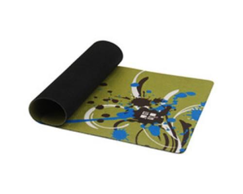 Коврик для мыши G-Cube GMPS-27T микрофибра рисунок Paint Splash резиновое основание темно-зеленый